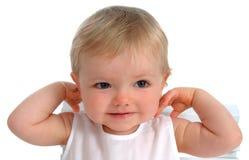 lycklig litet barn för closeup Arkivfoton
