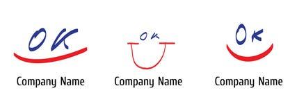 lycklig logo Royaltyfri Fotografi