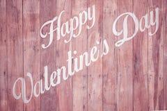 Lycklig målarfärg för dag för valentin` s på trä royaltyfria foton