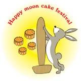 Lycklig månekakafestival Royaltyfri Foto