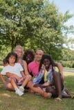 Lycklig mång- familj Royaltyfria Foton