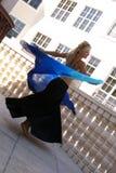 lycklig magdansös Fotografering för Bildbyråer