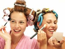 lycklig makeup Arkivbild