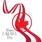 Lycklig mall f?r Kanada dagvektor - vektor royaltyfri illustrationer