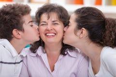 Lycklig mamma Arkivfoton