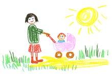 lycklig mamma royaltyfri illustrationer