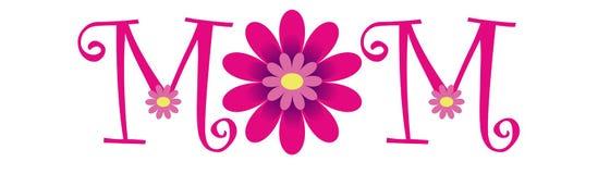 Lycklig MAMMA för dag för moder` s stock illustrationer