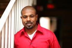 lycklig man för afrikansk amerikan arkivbilder