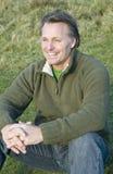 lycklig man för forties Royaltyfri Foto