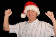 lycklig man för jul royaltyfri bild