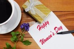 Lycklig mars 8 för dag för kvinna` s Arkivfoto