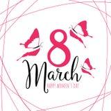 Lycklig mars för dag för kvinna` s 8 stock illustrationer