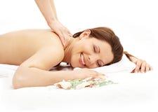 lycklig massage 2 royaltyfri fotografi