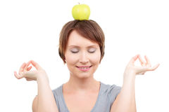 lycklig meditation royaltyfri foto