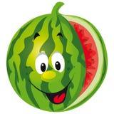 lycklig melon för tecknad film Arkivbild