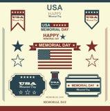 Lycklig Memorial Day patriotisk amerikan Arkivbilder