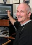 lycklig meteorolog Arkivfoton