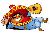 lycklig mexikan Royaltyfri Illustrationer