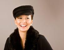 lycklig modell Royaltyfri Fotografi