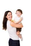 lycklig moder Arkivfoto