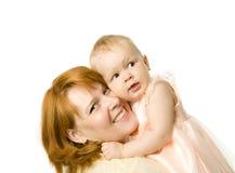 lycklig moder Arkivbilder