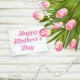 lycklig moder för dag 10 eps Arkivfoto