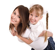 lycklig moder för dotterfamilj Arkivbilder