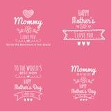lycklig moder för dag Arkivfoton