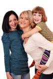 Lycklig moder och döttrar Arkivfoton