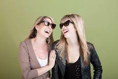 Lycklig moder och dotter Fotografering för Bildbyråer