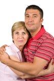 Lycklig moder och son Arkivbild