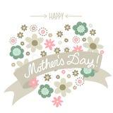 lycklig moder s för kortdag Arkivbilder