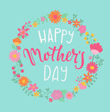lycklig moder s för kortdag royaltyfri illustrationer