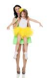 Lycklig moder som rymmer en ung dotter Royaltyfria Foton