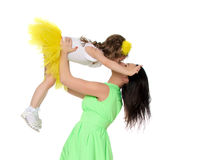 Lycklig moder som rymmer en ung dotter Royaltyfri Fotografi
