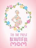lycklig moderdag med blomman Arkivfoton
