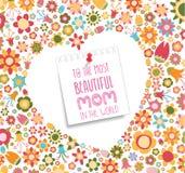 lycklig moderdag med blomman Royaltyfria Bilder
