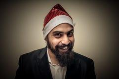 Lycklig modern elegant Santa Claus babbonatale Royaltyfria Bilder