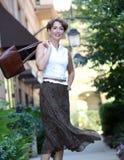 lycklig mogen kvinna arkivfoto