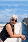 Lycklig mogen kvinna Royaltyfria Foton