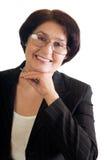 lycklig mogen kvinna för affär Royaltyfri Fotografi
