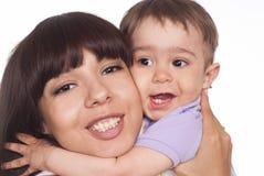 lycklig mom för barn Royaltyfri Foto