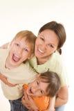 Lycklig mom och barn Royaltyfri Fotografi