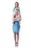 Lycklig mom och dotter Arkivfoto