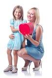 Lycklig mom och dotter Royaltyfri Fotografi