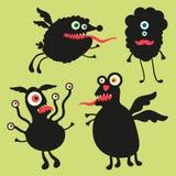 Lycklig monsterillustration Uppsättning 5 Arkivfoto