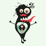 Lycklig monsterillustration Uppsättning 23 Fotografering för Bildbyråer
