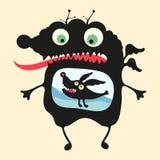 Lycklig monsterillustration Uppsättning 14 Royaltyfri Foto