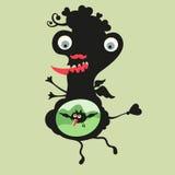 Lycklig monsterillustration Uppsättning 21 Fotografering för Bildbyråer