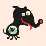 Lycklig monsterillustration Uppsättning 16 Arkivfoton